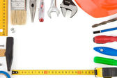 Set of tools and instruments isolated on white — Stock Photo