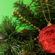 Christmas ornament on tree — Stock Photo