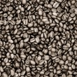 Coffee beans on sepia — Stock Photo