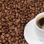 koffie en cup — Stockfoto