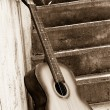 Image of guitar near steps — 图库照片