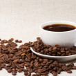 Stock Photo: Coffee and textile