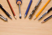 Tools and pens — Stock Photo