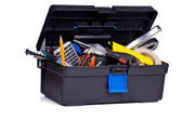 Toolbox on white background — Stock Photo