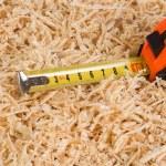 Wooden sawdust closeup — Stock Photo