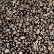 Sepia coffee beans — Stockfoto