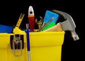 Set of tools in plastic box — Stock Photo
