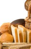 Set of bakery products isolated on white — Stock Photo