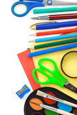 Back to school and accessories isolated on white — Stock Photo