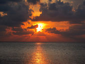 Setting sun — Stock Photo