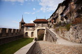 The Castle of Gruyères (Château de Gruyères) — Stock Photo