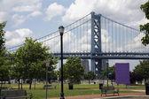 Benjamin franklin bridge — Stockfoto