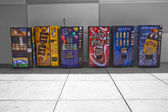 Colourful vending machines — Stockfoto