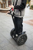 Segway demonstration in the street. — Stock Photo