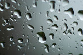 Raindrops on Window — Stock Photo