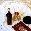 Jewish Sabbath Dinner - Stock Photo