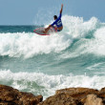 Sea Sport - Wave Surfing — Stock Photo
