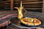 Potraviny a pokrmy kuchyně - restaurace — Stock fotografie