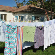 Drying clothes outside — Stock Photo #10847882