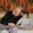 Childhood - Granddad Relationship — Stock Photo