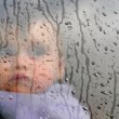 Childhood - Winter Rain Storm — Stock Photo