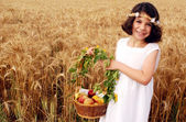 Israeli Children Participate in Shavuot Jewish Holiday — Stock Photo