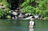 Pesca con mosca — Foto de Stock