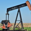 Stock Photo: Old Pump Jack