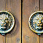 ������, ������: Chinese Lions Door Handel Decoration
