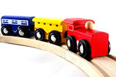 Locomotives and Rail Cars Toy — Stock Photo