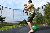 Fatherhood - Father and Baby Relationship — Stock Photo