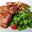 Lamb Chops with Salad — Stock Photo
