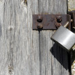 Stock Photo: Wooden Door with Lock