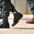 Army Boots Stand Out in a Crowd — Stock Photo