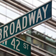 Royalty-Free Stock Photo: Broadway 42nd street sign