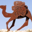 Camel Statues in the Negev, Israel — Stock Photo #11116886