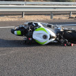Stock Photo: Motorbike Bicycle Road Accident