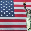 Statue of Liberty with American Flag — Stock Photo #11117238