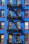 Fire escape new york building — Stock Photo