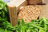 Matza for Passover — Stock Photo