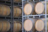 Barrels of Wine in a Vineyard — Stock Photo