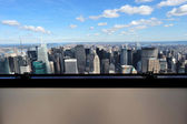 New York City Glass Window View — Stock Photo