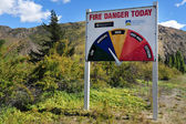 Fire Danger Warning Sign — Stock Photo