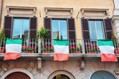 Italian Windows and Flags — Stock Photo