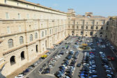 Vatican Museum parking lot in Rome, Italy — Stock Photo