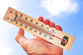 Hittegolf hoge temperaturen — Stockfoto