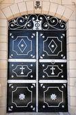 Christliche Tür Kreuz — Stockfoto
