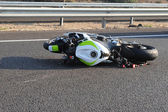 Motorbike Bicycle Road Accident — Stock Photo