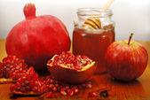 Rosh Hashana Traditional Food — Stock Photo