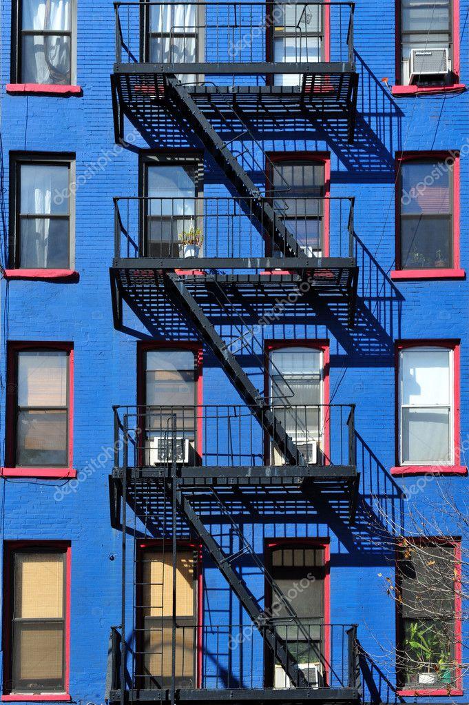 escalier de secours new york building photographie lucidwaters 11116156. Black Bedroom Furniture Sets. Home Design Ideas